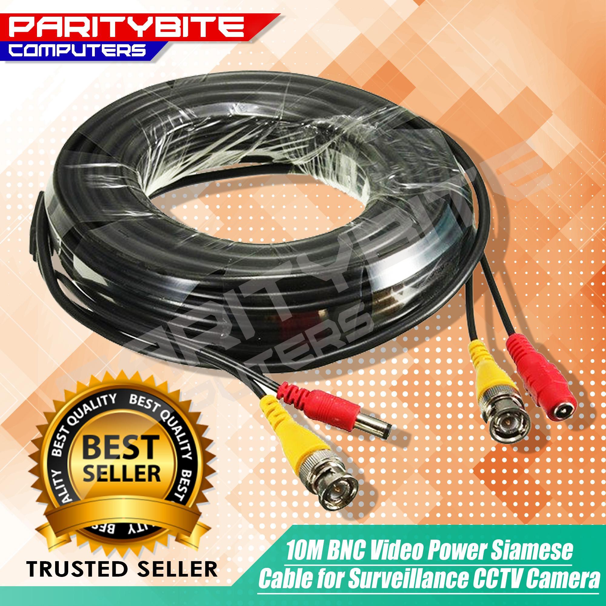 10m BNC Video Power Siamese Cable for Surveillance CCTV Camera