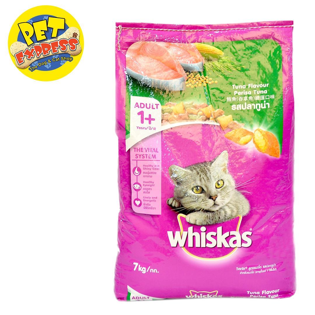 BUY Whiskas Tuna Flavour Cat Food 7kg, FREE 1pc Sheba Succulent Chocken Breast 85g   Lazada PH