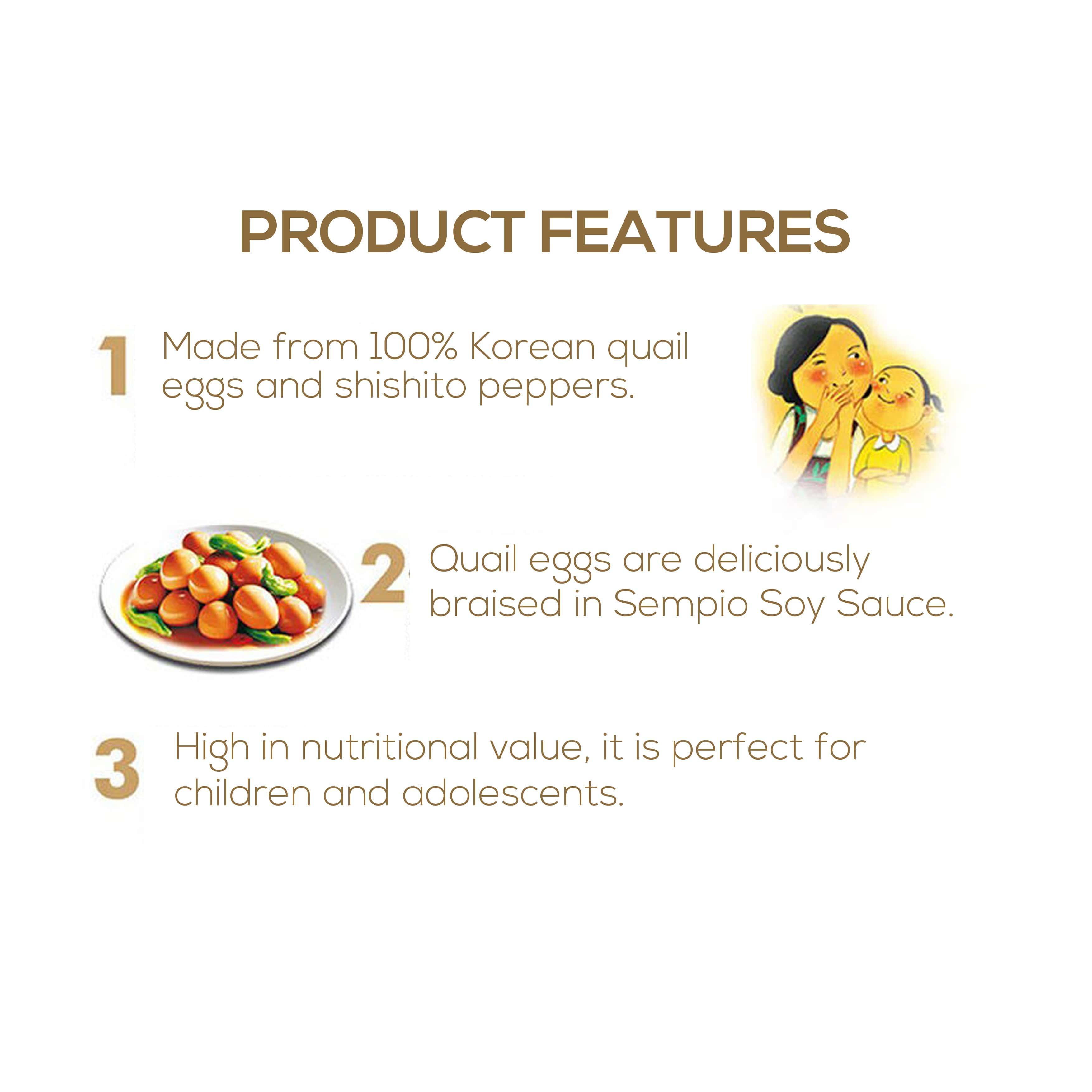 Image result for Korean Braised Quail Eggs in Soy Sauce 130g