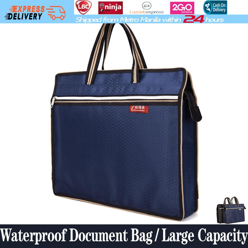 425486a32b4b Large Capacity Waterproof Document Bag Hand-held Zipper Oxford Cloth File  Bag Cross Section Of Flat Tablet Computer Briefcase Wholesale