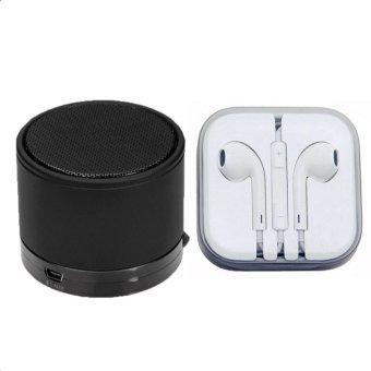 Bluetooth Speaker (Black) with Earphone (White)