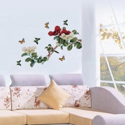 Branch with Butterflies Wall Sticker