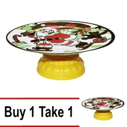 Buy1 Take1 Santa Design Fruit Tray with Yellow Stand
