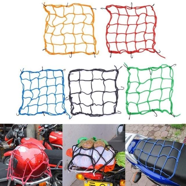 6 Hooks Hold Down Cargo Luggage Helmet Net By Cjh Motorcycle Accessories Shop.