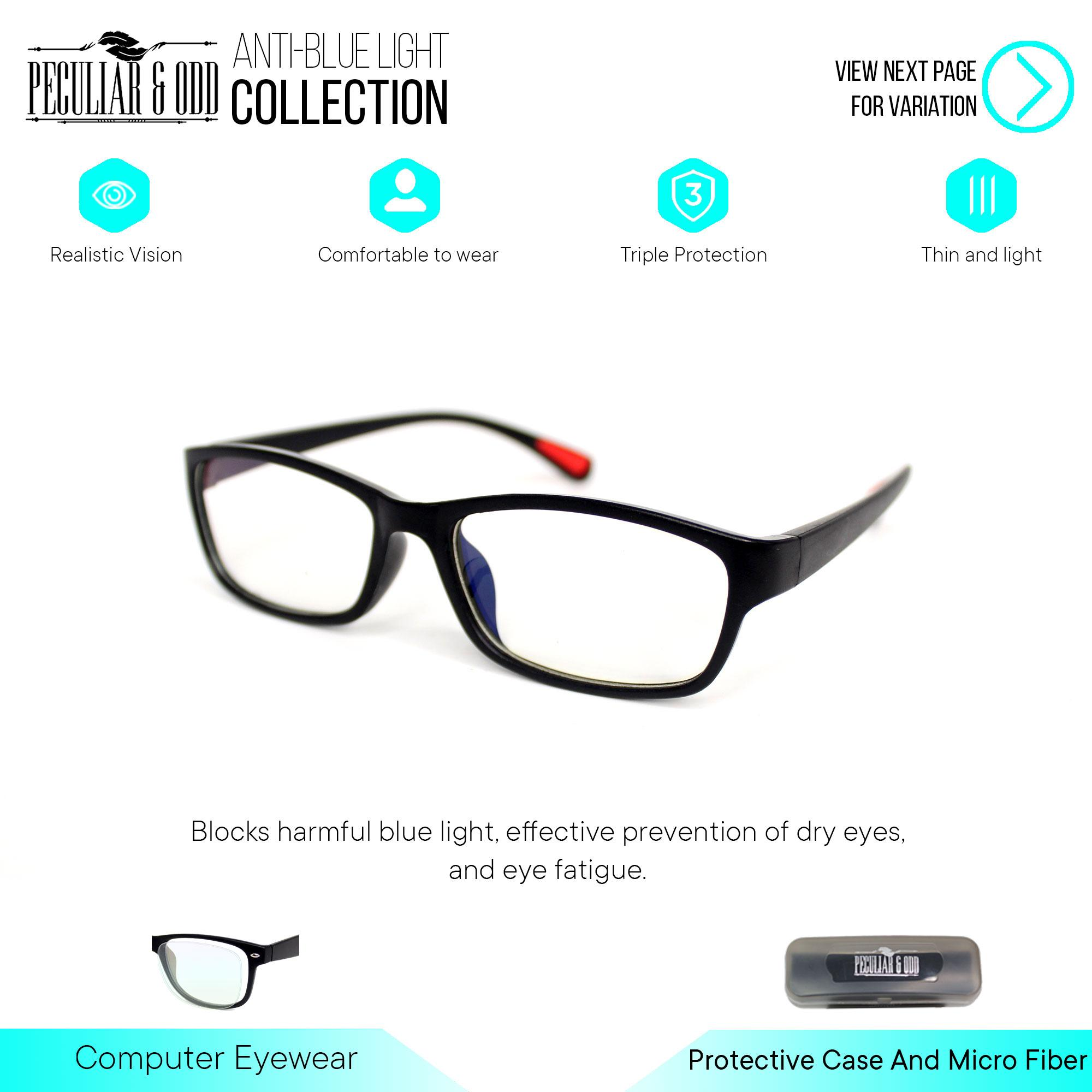 9830db4c2ad Peculiar Premium 8818 Black Computer Anti-Radiation Replaceable Lens  Eyeglass  Unisex Eyewear Optical Frame Anti Blue