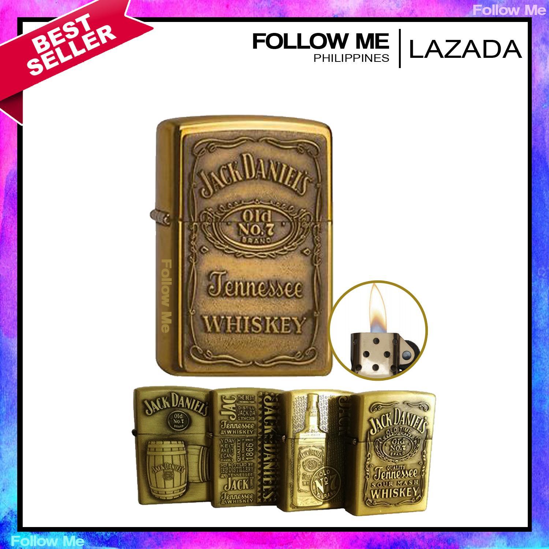 Cigarette Lighter by Bohai - JackDanieI7 Edition with Box and Fluid (Random  Design)