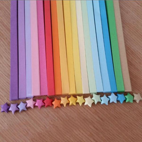 Mua Dải Giấy Potey Origami Lucky Star Dải Ruy Băng Giấy Gấp Màu