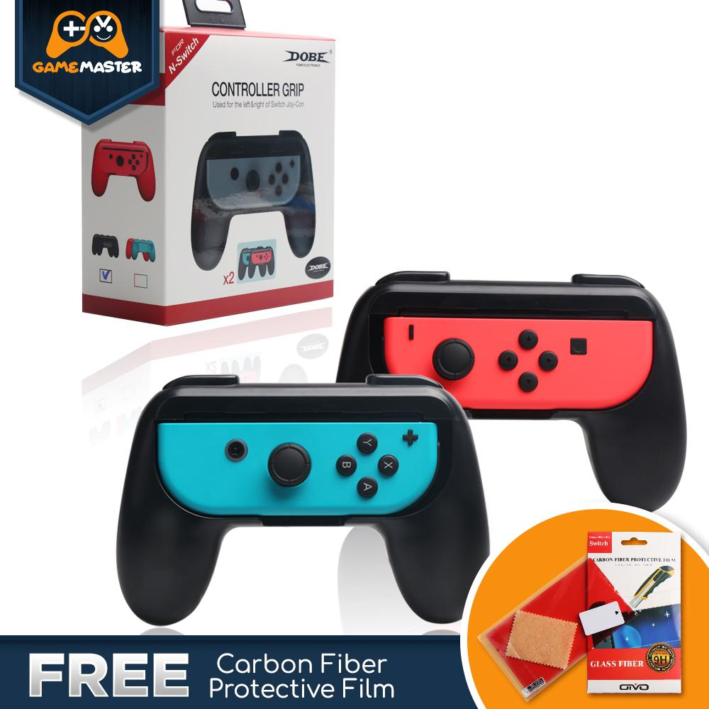 Game Master Nintendo Switch Controller Grip / Grips compatible with  Nintendo Switch Joy-Cons for Extra Comfort - TWIN PACK Universal Sided Grip
