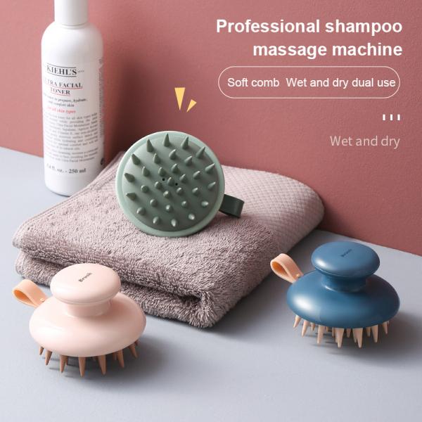Lược Massage Mát Xa Bàn Chải Dầu Gội Da Đầu Lược Mát Xa Đầu Lược Massage Đa Chức Năng Bằng Silicon Bàn Chải Cọ Phòng Tắm Dầu Gội Chuyên Nghiệp nhập khẩu