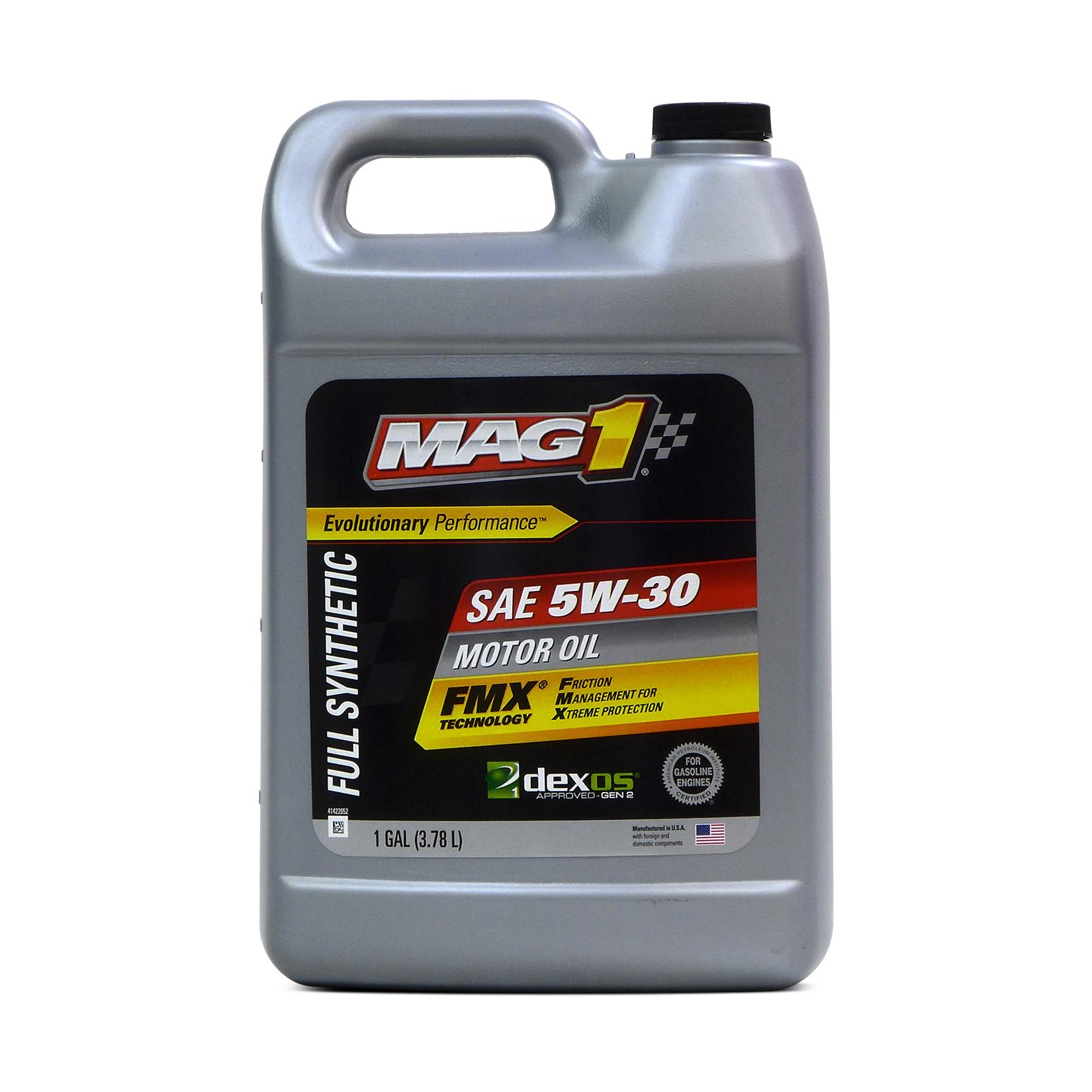 MAG 1 5W30 GM Dexos1 Licensed API SN Certified Full Synthetic Oil Gasoline  Engines 1 Gal/ 3 79L PN#69146