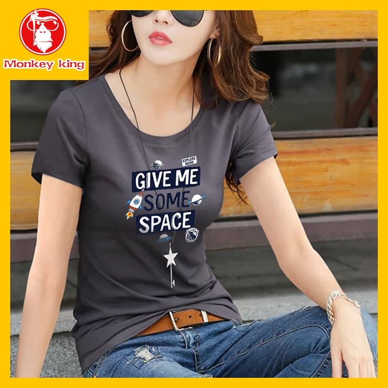 3fec2d33532b4b  Monkey King Round neck T-shirt for Womens on sale Tees Tops Unisex