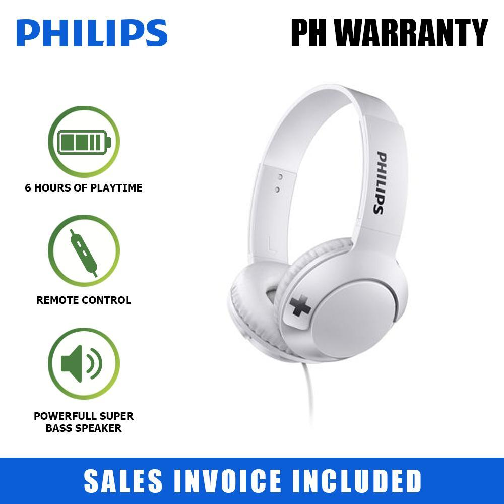 fc555870539 Philips Headphones Wired with Mic Big BOLD Bass+ 32mm Speaker Drivers On-Ear  Closed-