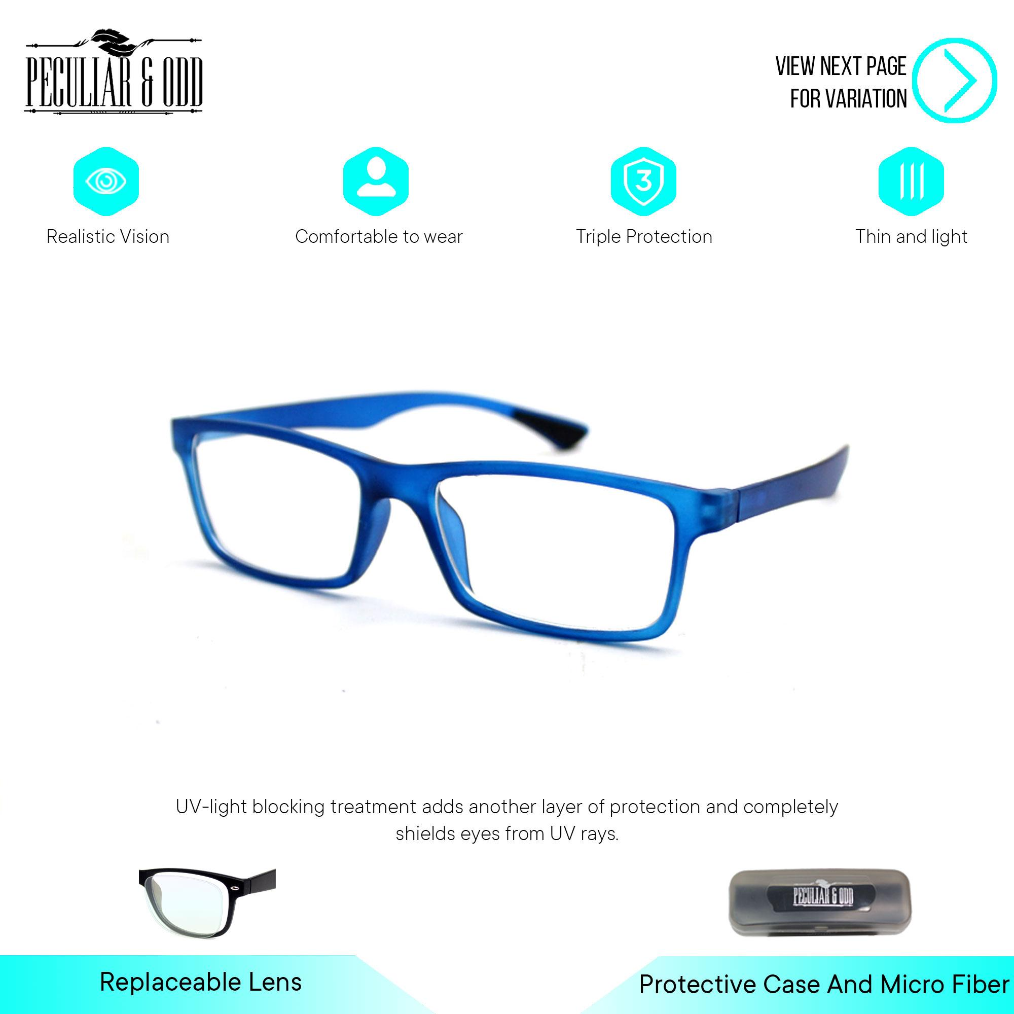 f487d9fc9c Peculiar Premium 8818 SandBlack Computer Anti-Radiation Replaceable Lens  Eyeglass  Unisex Eyewear Optical Frame Anti Blue Light Multicolored Lens -  Unisex ...