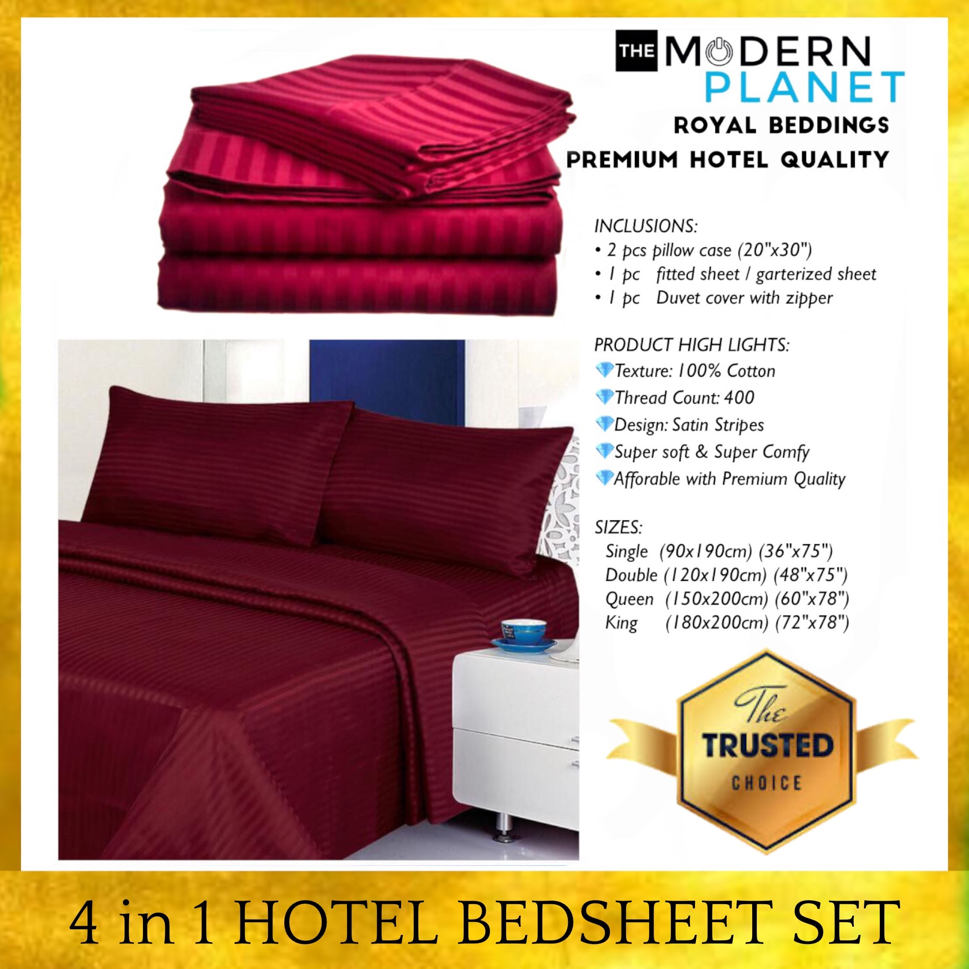 Fitted Bed Sheet Set Solid Plain Color Comfort Pillowcases Queen Bedding Cover