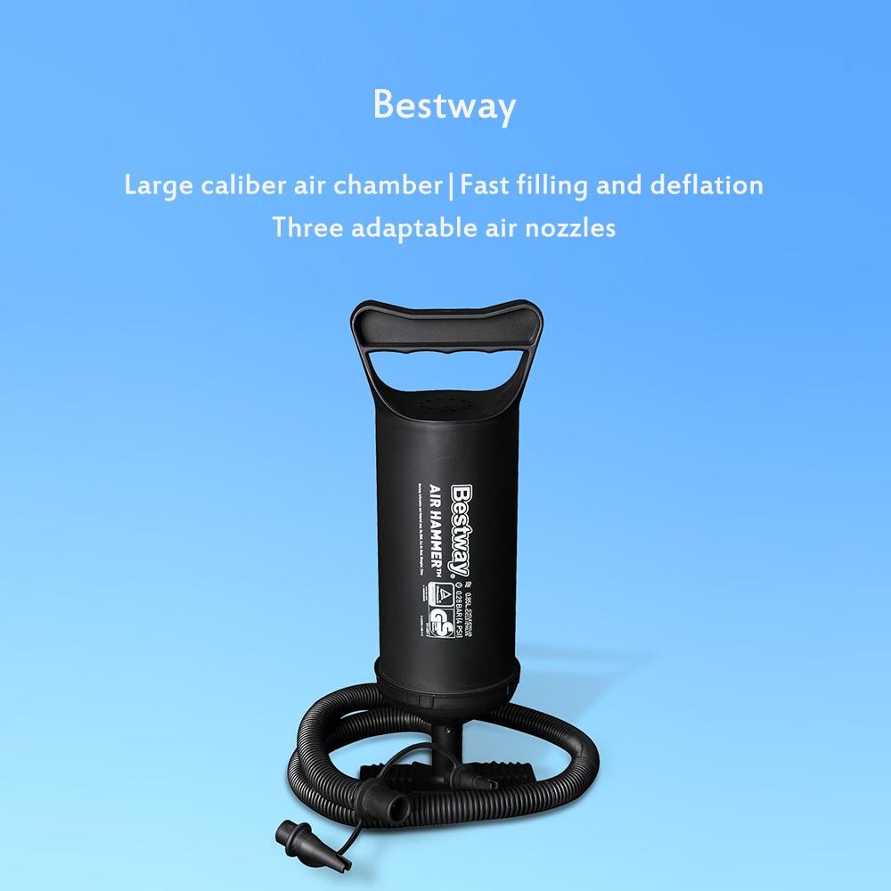 "Bestway 19/"" Air Hammer Inflation Pump Hand Manual Pool Air Bed Dinghy Blow Up"