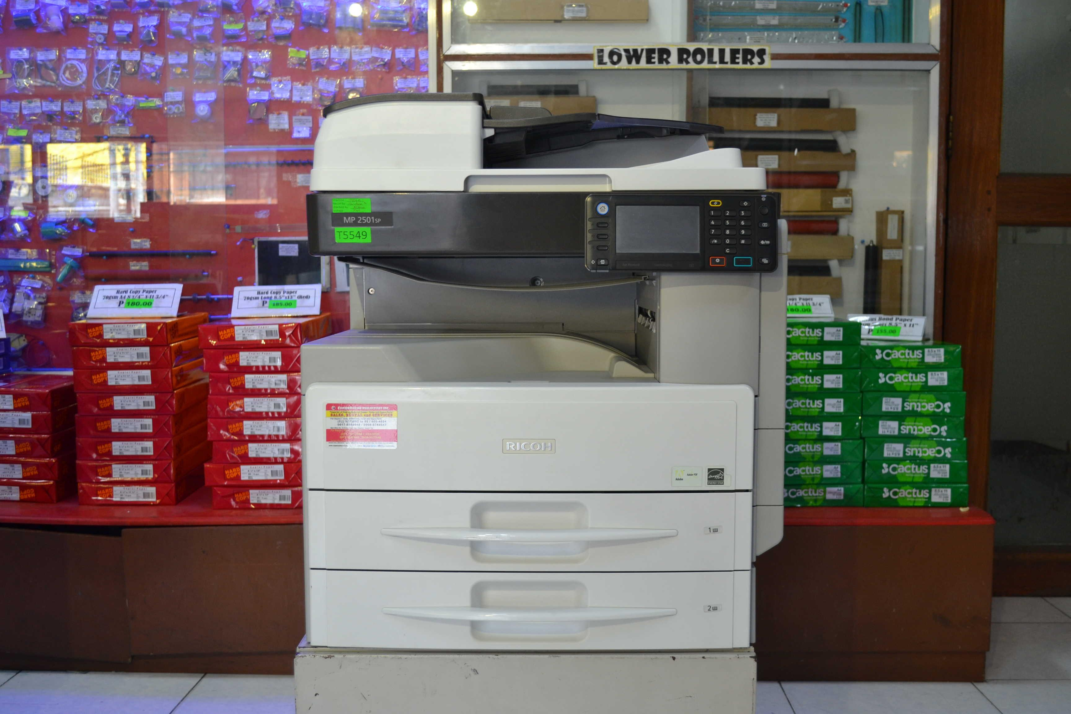 XEROX COPIER MACHINE Ricoh Aficio MP2501sp (Copier, Printer, Scanner, & Fax)