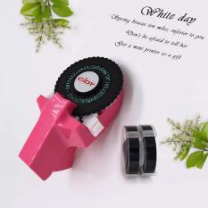 Mini Xách Tay Nhãn Maker DIY 3D Dập Nổi Nhãn Writer Máy In Máy Đánh Chữ Với Nhựa PVC 9 Mét Nhãn Băng Máy Chữ
