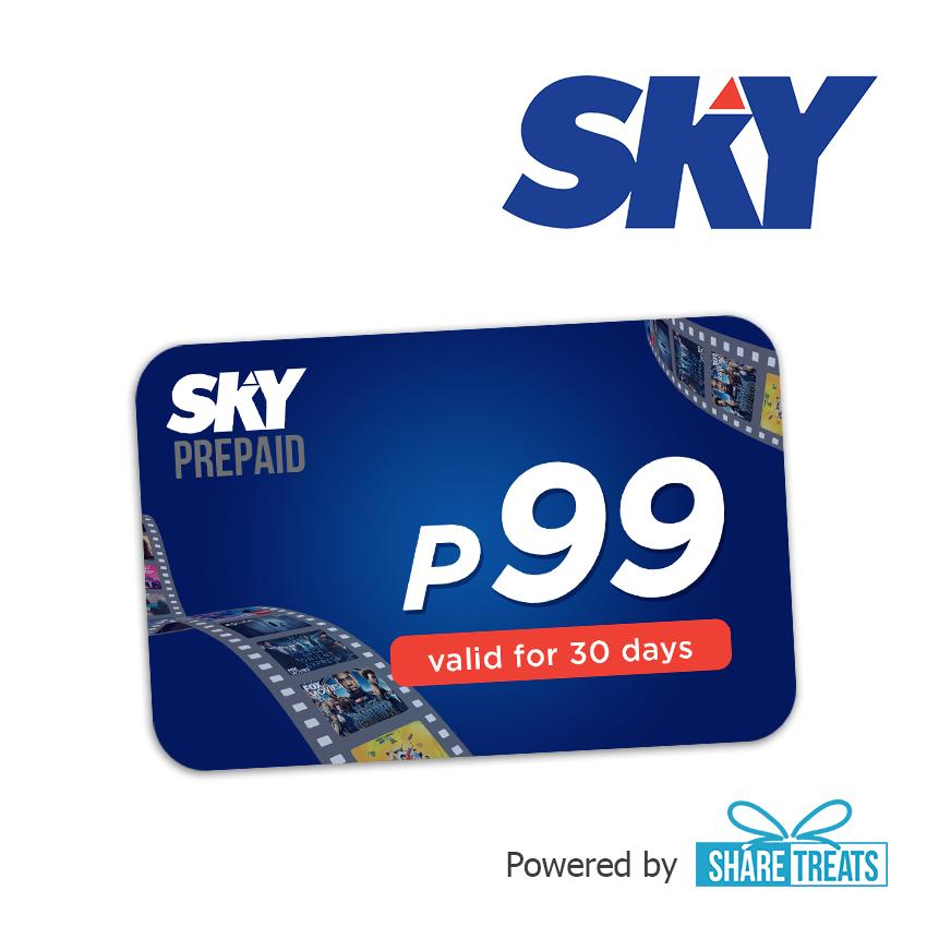 Sky Prepaid 99 valid for 30 days (SMS eVoucher)