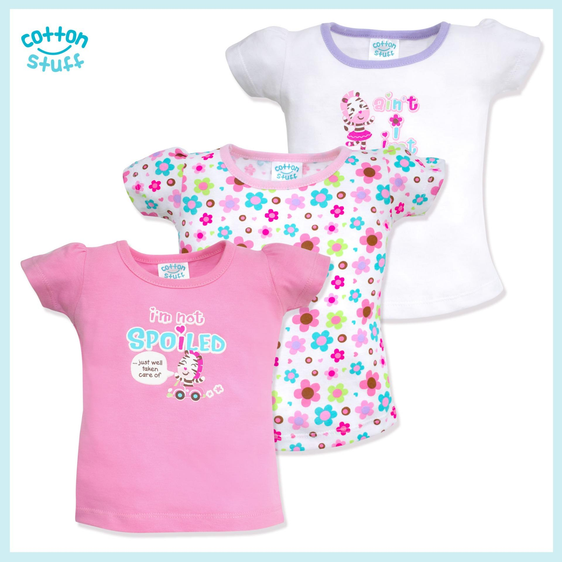 ac0c1f215 Cotton Stuff - 3-piece Short Sleeve Fitted Blouse (Girls and Their Toys)