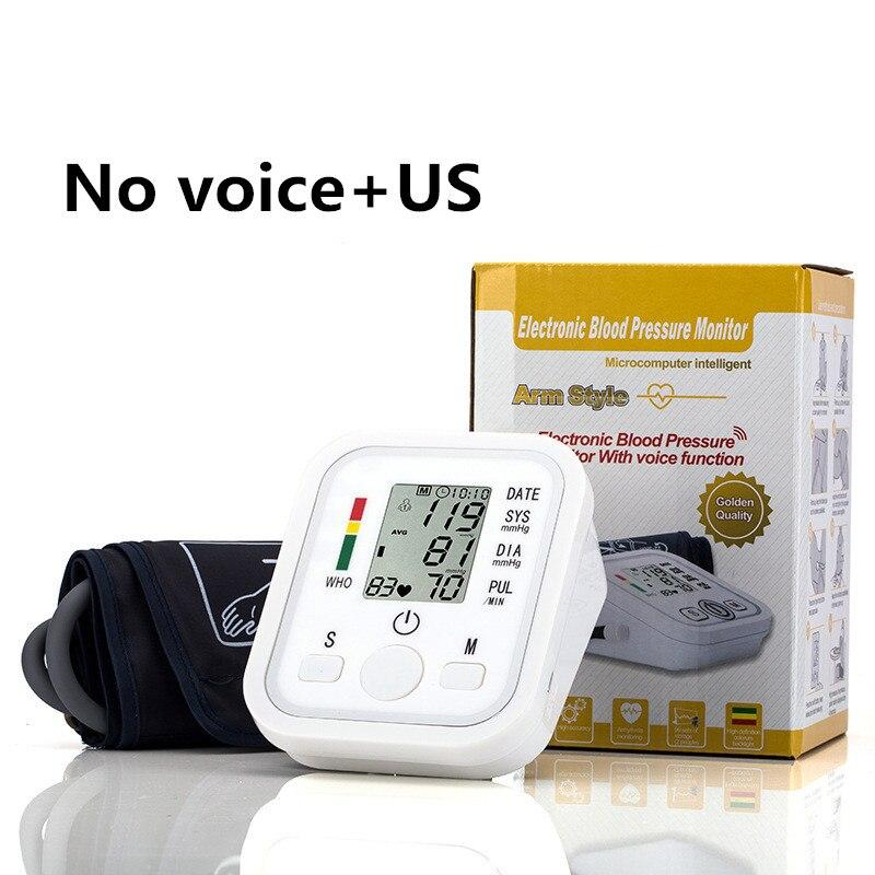(No voice US )ZOSS English or Russian Voice broadcast digital LCD upper arm blood pressure monitor heart beat instrument tonometer heart rate LLT Store