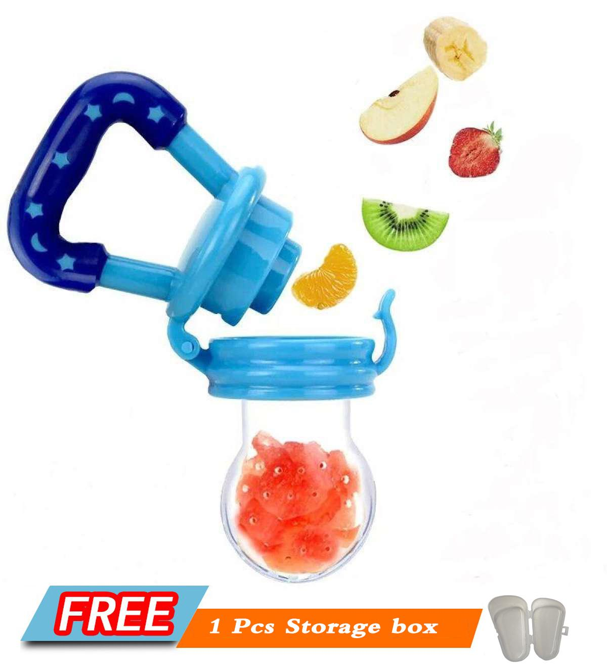 Baby Fruit Feeder Pacifier Fresh Food Milk Nibbler Feeder Kids Nipple Feeding Safe Baby Supplies Nipple Teat Pacifier Bottles image on snachetto.com