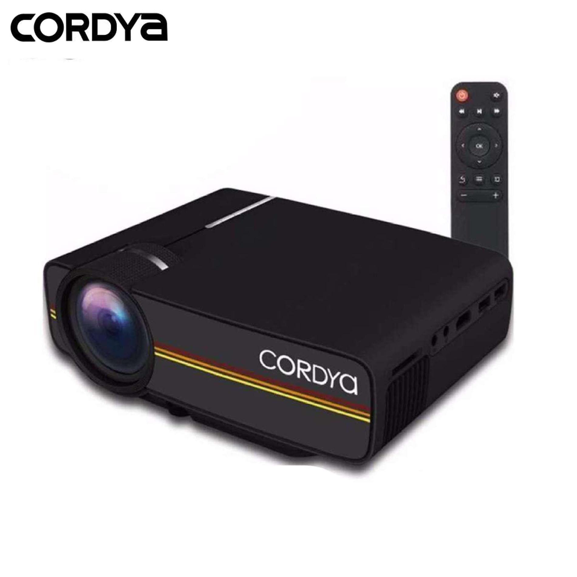 CORDYA YG 400 1080p LCD 1000 Lumens Portable Projector For Home Cinema Theater TV
