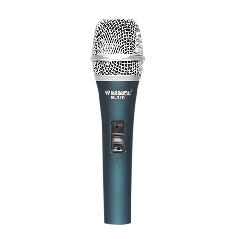 WEISRE Metal Moving Coil Type High Quality Wired Microphone K Song Pole Sound High Fidelity Professional Microphone