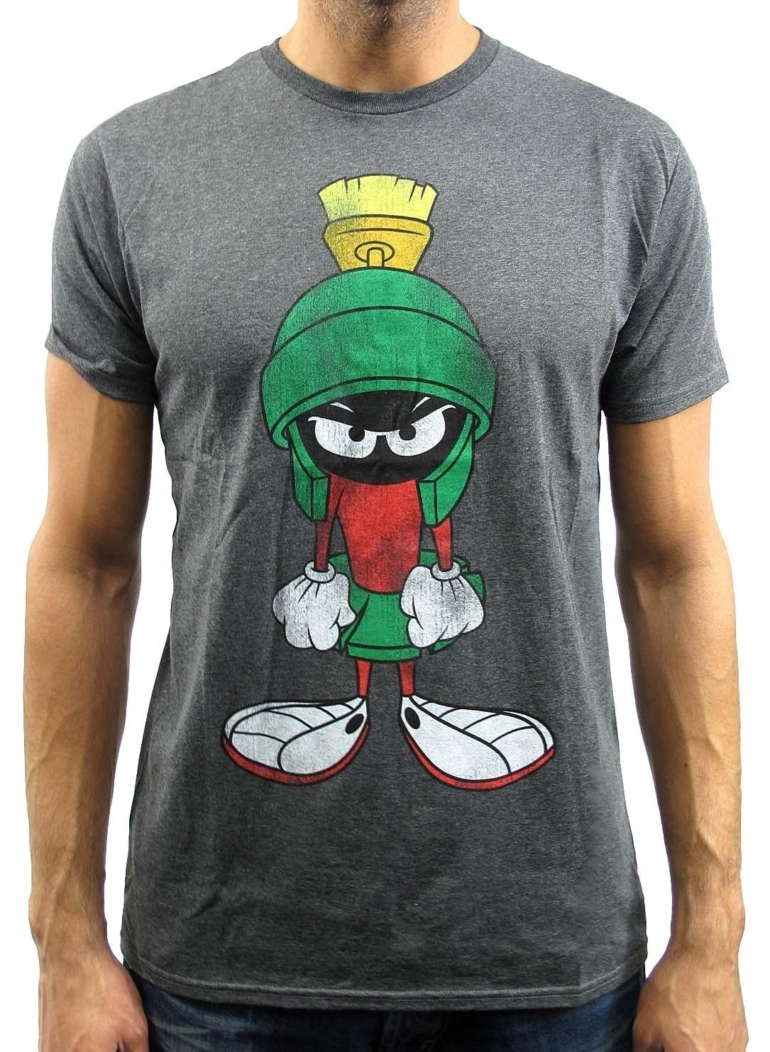 03c710244c42 Looney Tunes Marvin Martian Charcoal Heather Mens T-shirt New Tops Fashion  Cotton Tee