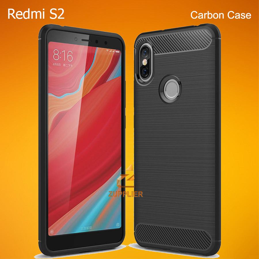 8a4c75ef5d4 Xiaomi Redmi S2 Case Premium Carbon Fiber Brushed Soft TPU Case Shock Proof  Tough Rugged Slim