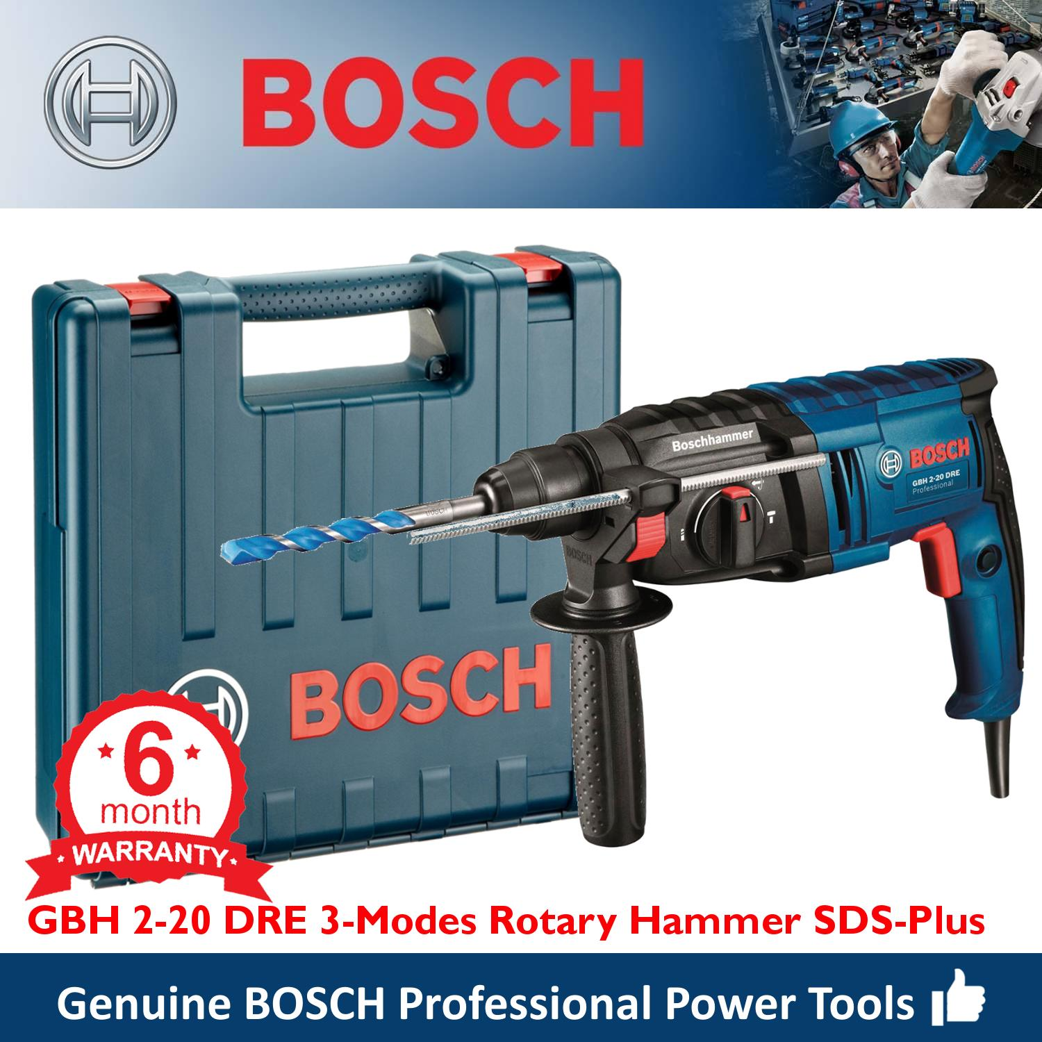 Bosch GBH 2-20 DRE Rotary Combination Hammer Drill SDS Plus 3-Modes with