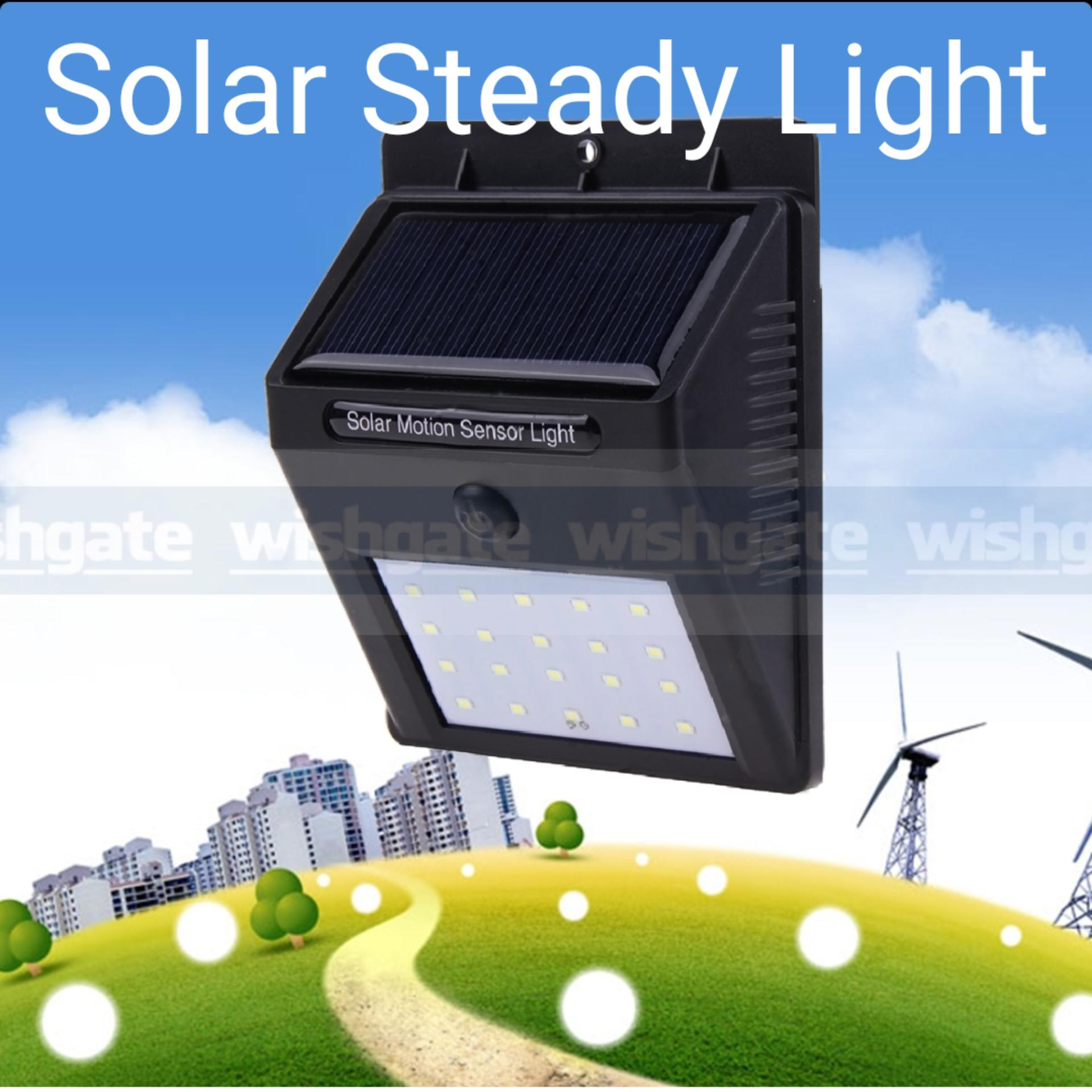 Wishgate Solar Wall Light Outdoor, 20 Led Steady Night Light, Waterproof By Wishgate.