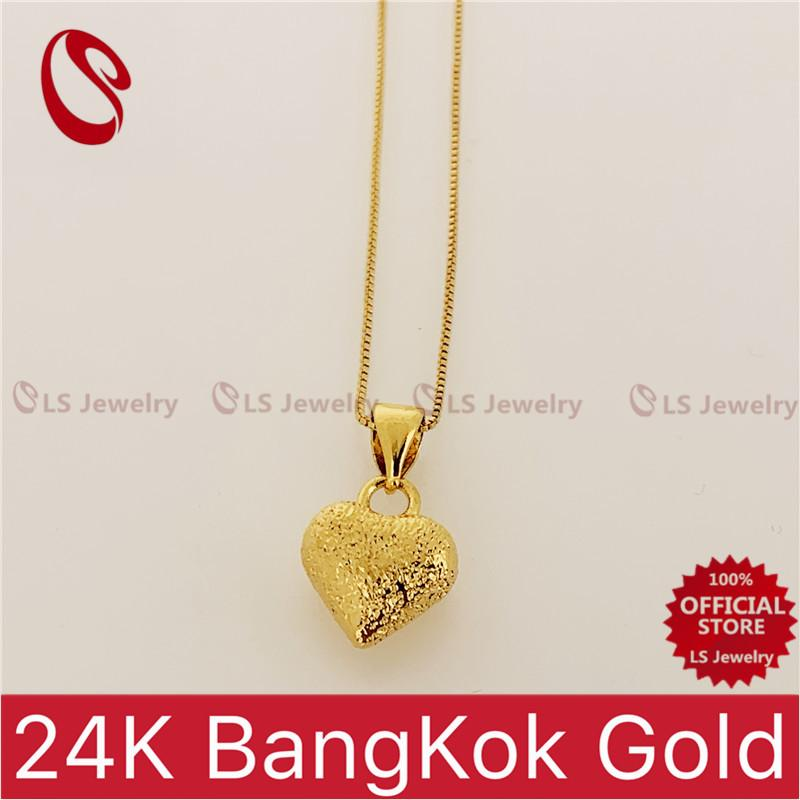 LSjewelry Fashionable 24K Bangkok gold plated Necklace for women N0219