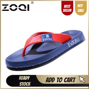 ZOQI รองเท้าแตะผู้ชายรองเท้าแตะชายหาดรองเท้าแตะสำหรับผู้ชายและผู้หญิงรองเท้าฤดูร้อนรองเท้าแตะผู้ชายรองเท้าแตะ (สีฟ้าและสีแดง) - นานาชาติ