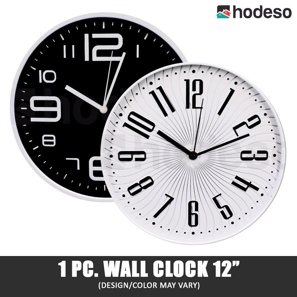 "Hodeso Big Digits Kitchen Home Office Decor Round Shaped Clock Art Wall Clock 12"" Ava"