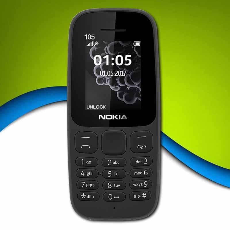 Original NOKIA 105 Dual SIM Keypad Phone Camera Cellphone