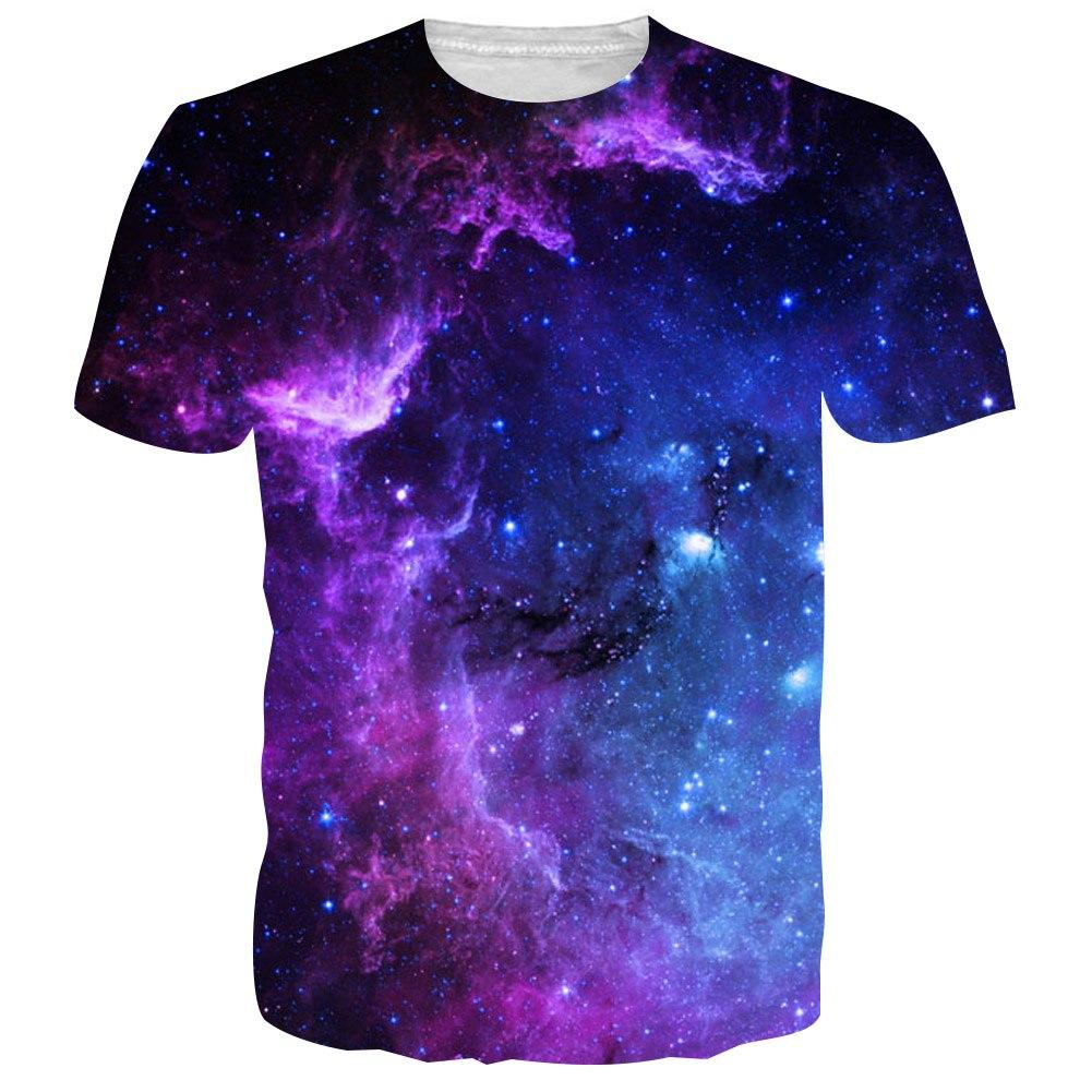 b5dfcf2b670c BFUSTYLE Mens Men T Shirts Tshirt 2019 Fashion Summer Space Galaxy 3D Print  Tops Tess Camisetas