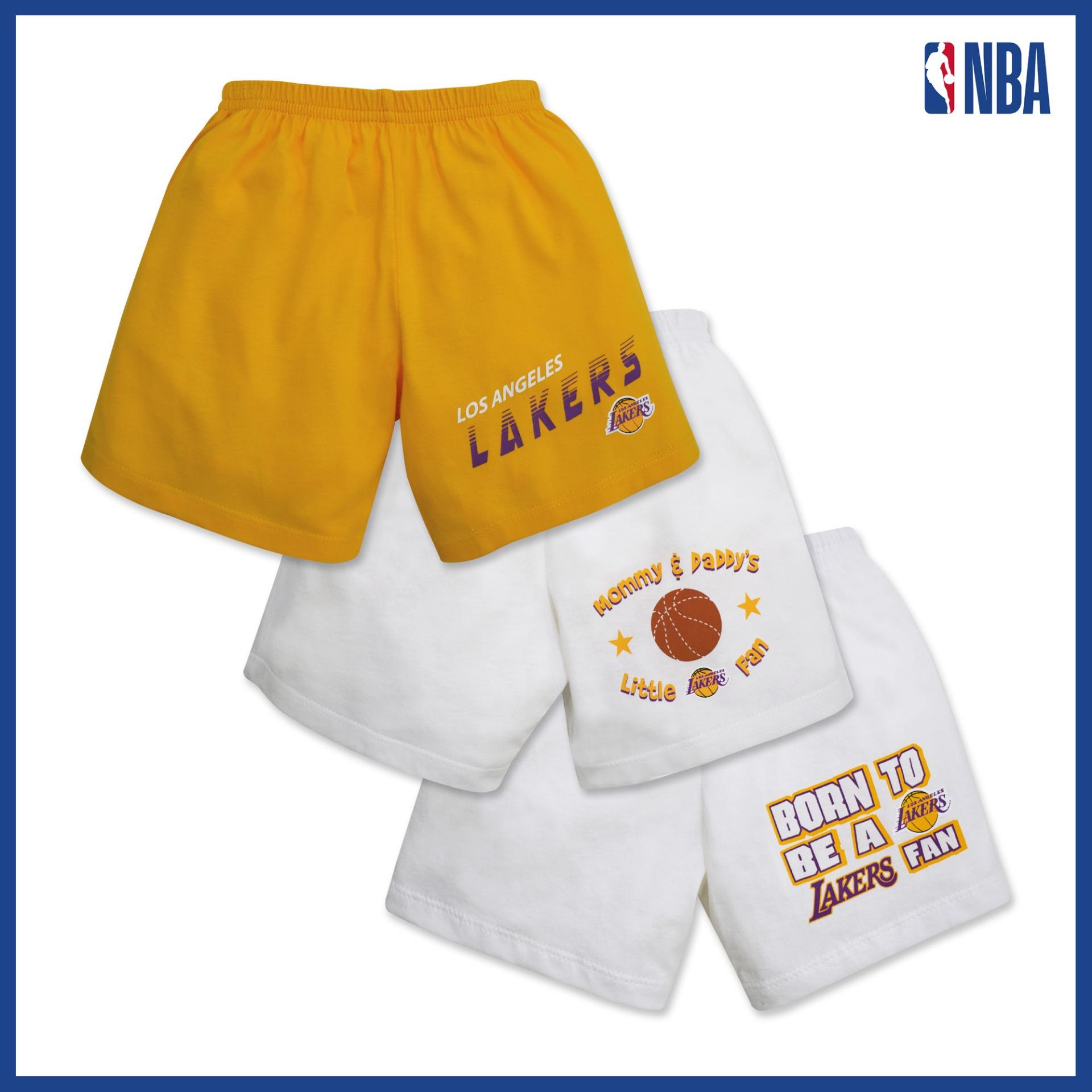 Nba Baby - 3-Piece Shorts (born To Be - Lakers) By Cotton Stuff.