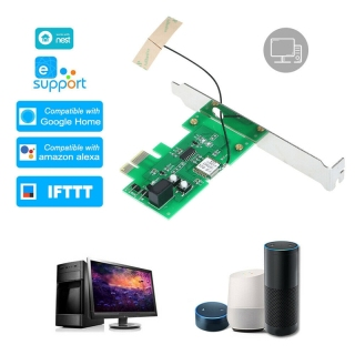 WiFi Smart Relay Module Mini PCI-E Desktop PC Voice Remote Control Card Turn On OFF Boot Card Work with Alexa Google Home IFTTT thumbnail