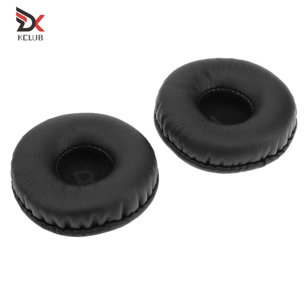 2pcs Replacement 75mm Earpads Cushion Earmuffs Covers for ATH-SJ33 SJ55 AKG K518
