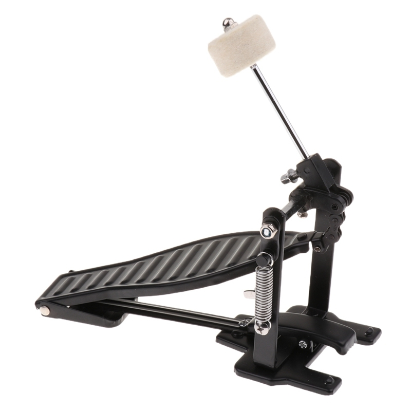 Aluminium Alloy Single Spring Bass Children Drum Pedal Adjustable Stroke with Wool Beater Percussion Replacement Accessories