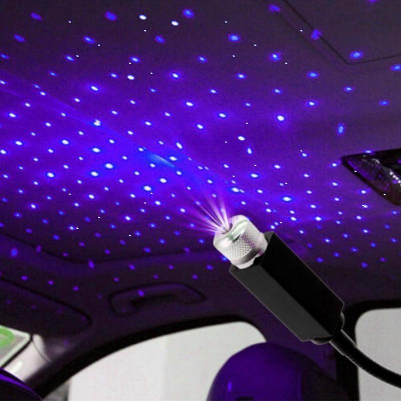 1 Chiếc Ô Tô Mái Đèn Lãng Mạn USB Đèn Ngủ Bầu Không Đèn Đèn Sao Ngôi USB Trang Trí Khí Xe Đèn Led cổng Tô Ô Nhà S7B3