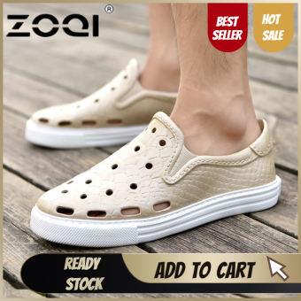 ZOQI รองเท้าลื่นรองเท้าสวนน้ำหนักเบารองเท้าแตะชายสบายๆรองเท้าแตะรองเท้าผู้ชาย-สนามบินนานาชาติรองเท้าแตะรองเท้าแฟชั่นร้องเท้าแฟชั่น