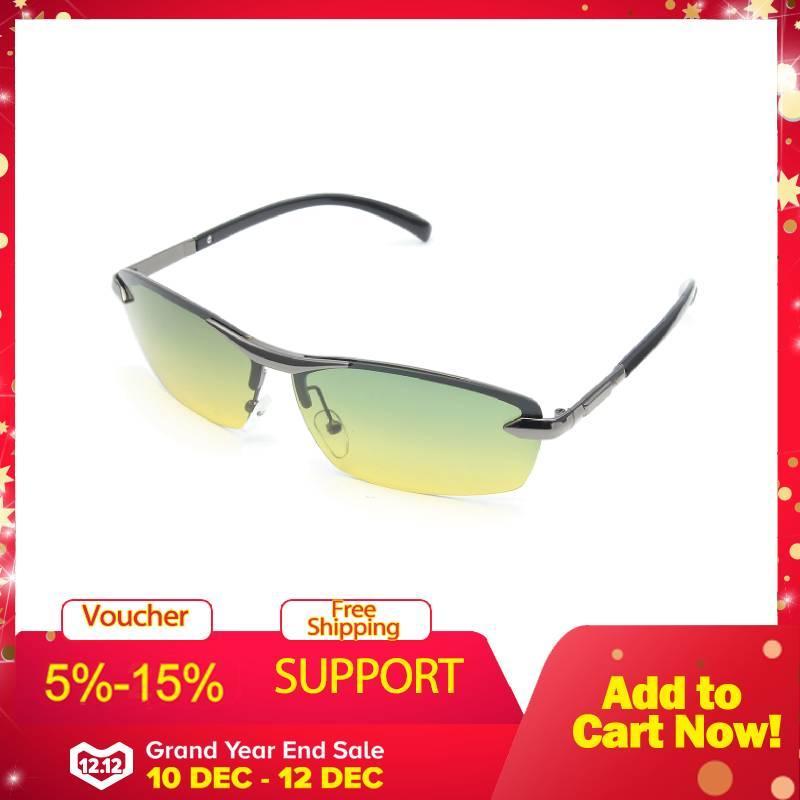 583a7617999 Day Night Vision Men s Polarized Sunglasses Driving Pilot Mirror Sun Glasses  - intl