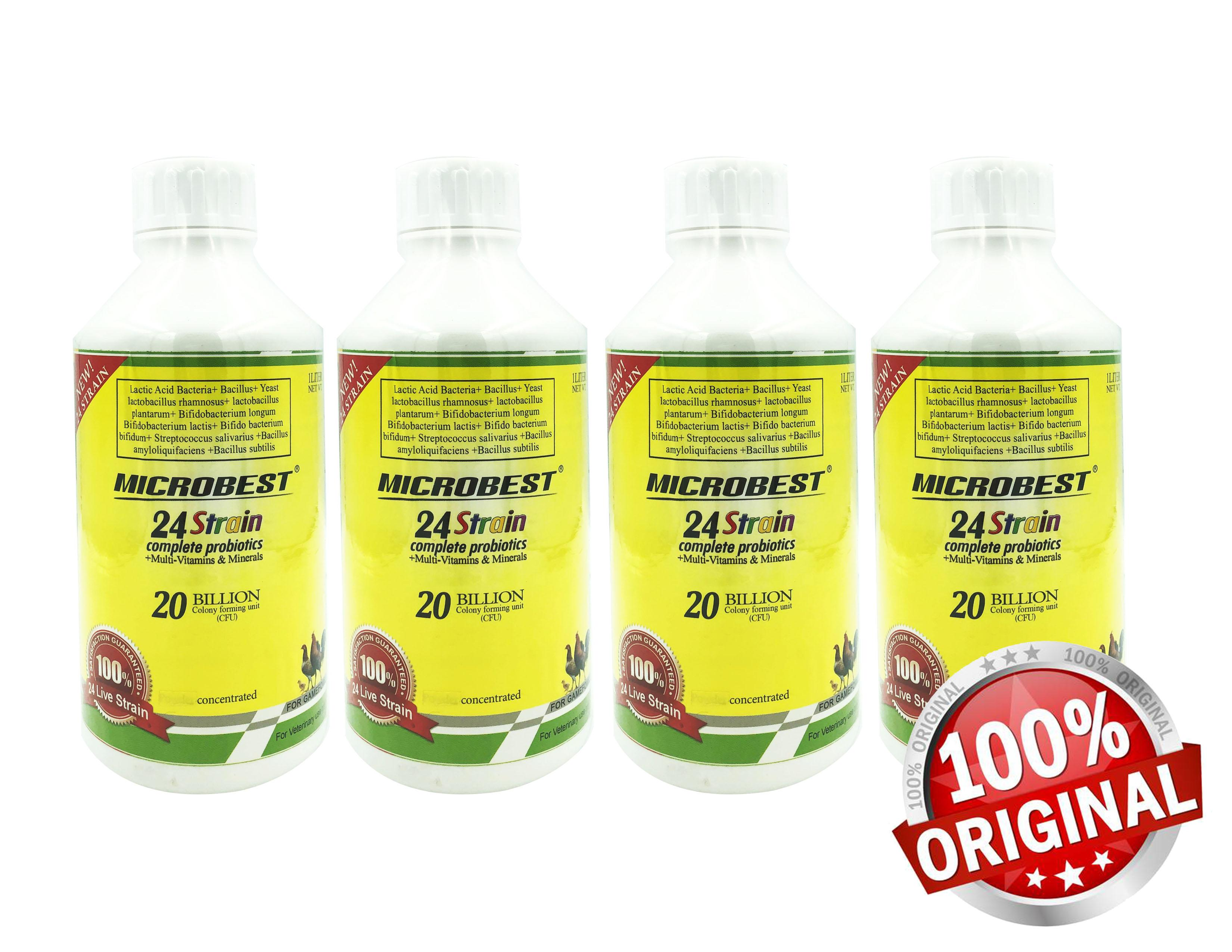 4 bottles of Microbest 120ml Probiotic Multivitamins for Gamefowl Rooster  PROMO ONLY