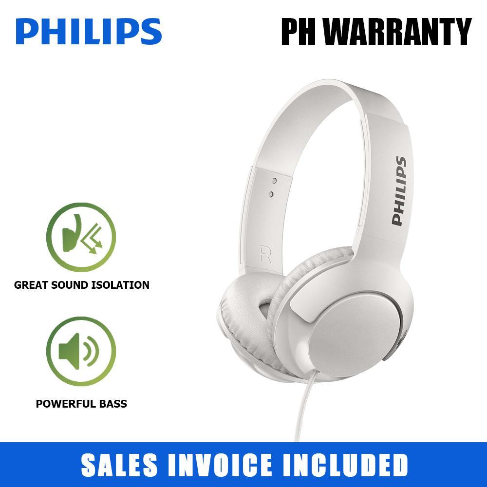 425cb4e750c Philips Big BOLD Bass+ 32mm Speaker Drivers On-Ear Closed-Back Flat folding  Headphones