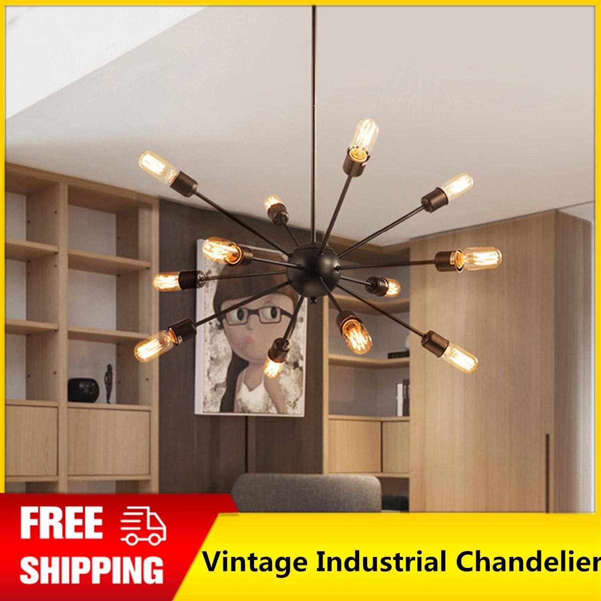 7e30e9c169c5 【Free Shipping + Flash Deal】Sputnik Vintage Industrial Chandelier Loft  Ceiling Pendant 12 Light
