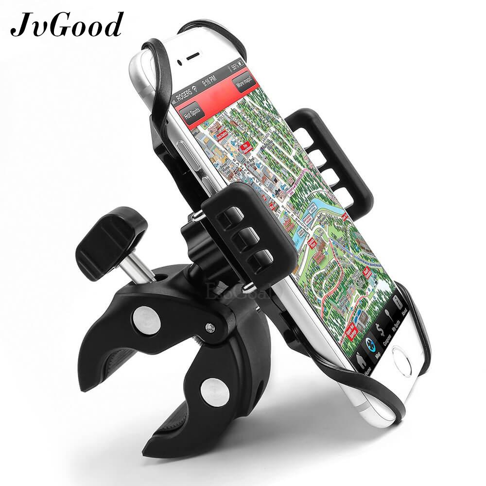 JvGood Phone Holder for Bike, Bicycle Motorcycle Phone Mount Holder with  Asymmetric Design for Vast Compatibility any Cell Phone