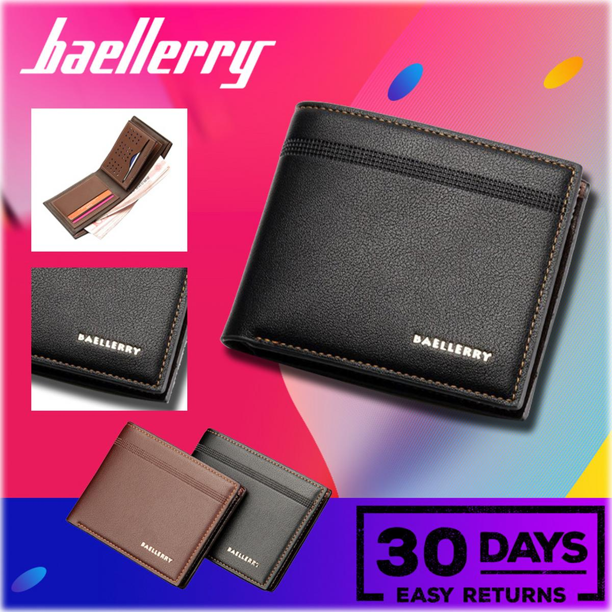 e36d1c079c431 Baellerry Vintage Men PU Leather Short Wallet Money Cash Purse Business  Billfold Pocket Credit Card Holder