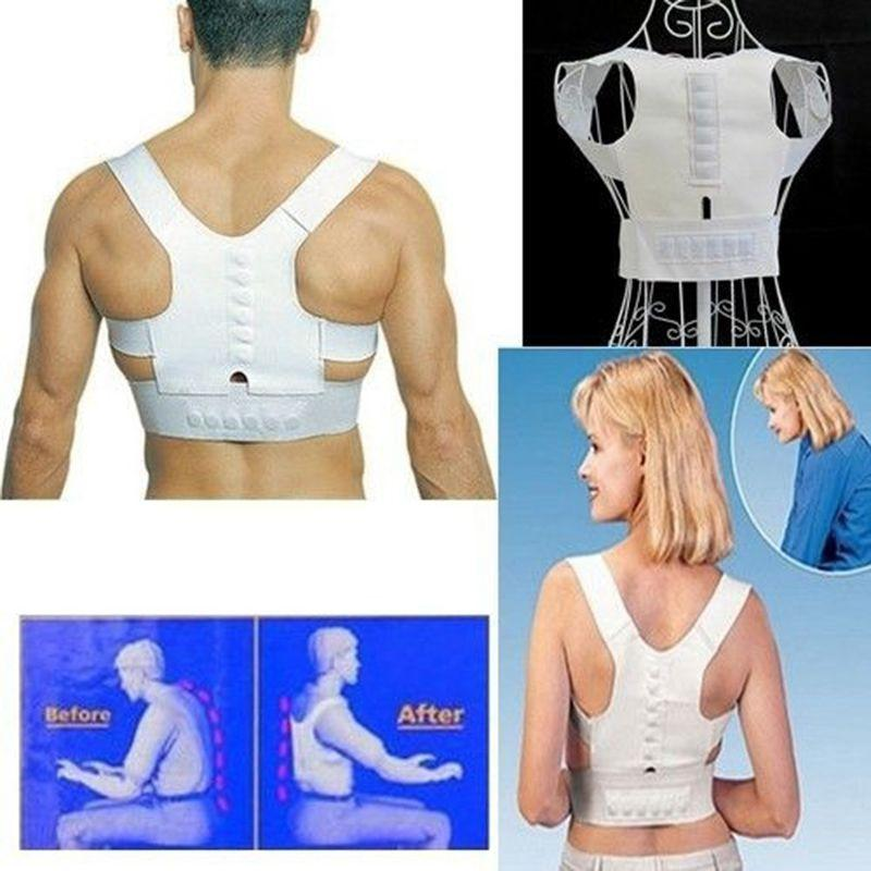Body Shaper Adjustable Magnetic Posture Support Corrector Back Pain Shoulder correction