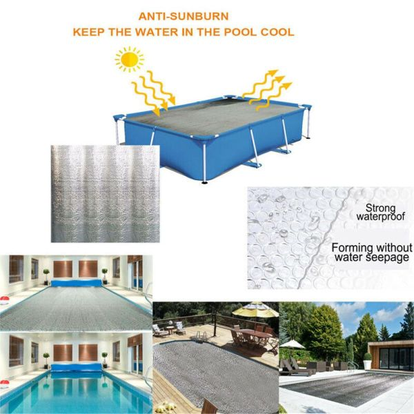 YESMILE Rectangular Dustproof Garden Anti-sunbrun Solar Family Swimming Pools Thermal Insulation Film Swimming Pool Cover Pool Heat Preservation Cover